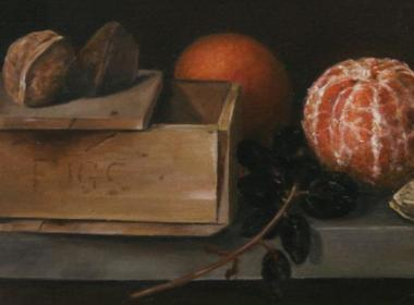 Still Life with Old Box Fruit and Nuts by Jo Young