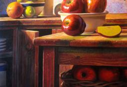 Still life with Apples by Ernesto Arrisueno