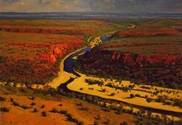 Central Australia - Red, The Promise of Rain by Patrick Carroll