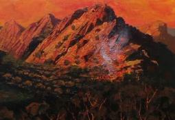 McDonnell Ranges, Sunset by Patrick Carroll