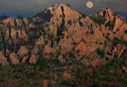 Moonrise West MacDonnell Ranges by Patrick Carroll
