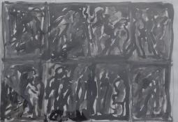 Study for figure at Gare du Nord by Kevin Connor