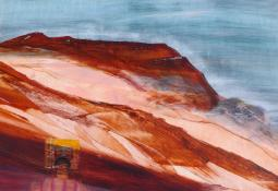 Kelly and Cliffs by Sidney Nolan
