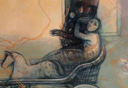 Girl in Chariot by Margaret Woodward