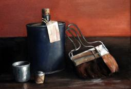Bottle and Brushes by Jo Young