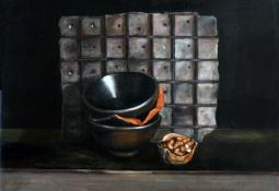 Broken Bowl with Walnuts No 2 by Jo Young